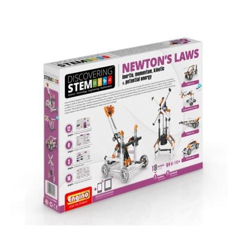 Конструктор «Engino» (STEM07) Stem Законы Ньютона: инерция, движущая сила, энергия, 121 элемент