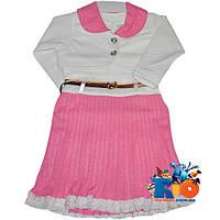 """Детское нарядное платье с болеро """"Плиссе"""" , для девочек от 2-3-4 лет"""
