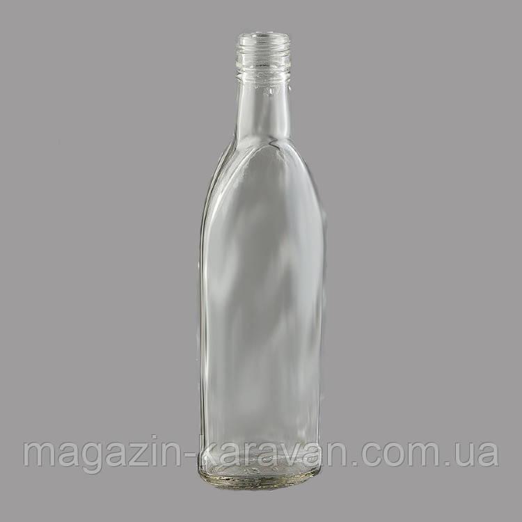 Комплект бутылка стеклянная водочная с колпачком 28*18 0,25 л