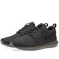 Оригинальные  кроссовки Nike Roshe NM Flyknit Black & Midnight Fog