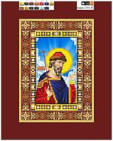 """Схема для вышивки бисером на подрамнике (холст) икона """"Святой Борис"""""""