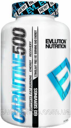 Л-карнитин EVLUTION NUTRITION Carnitine 500 60 капсул