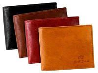 Мужской кошелек из натуральной кожи бренд Paul Rossi