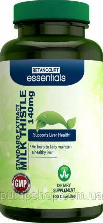 Для поддержания и восстановления печени  Betancourt Nutrition Milk Thistle 100 капс.