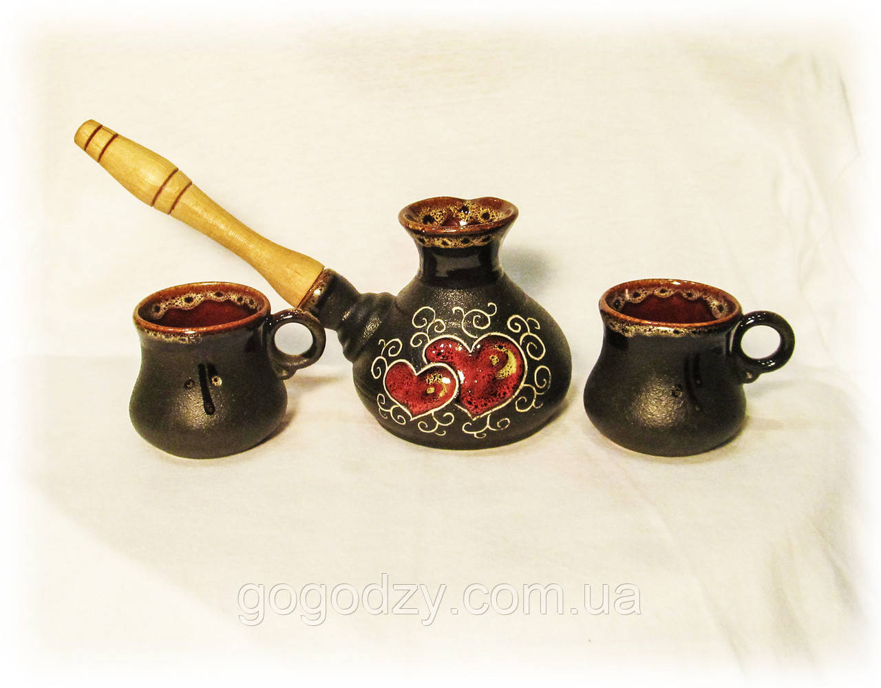 Набір кавовий Валентинка 230 мл. чорний