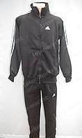 Стильный мужской костюм adidas ластик черный