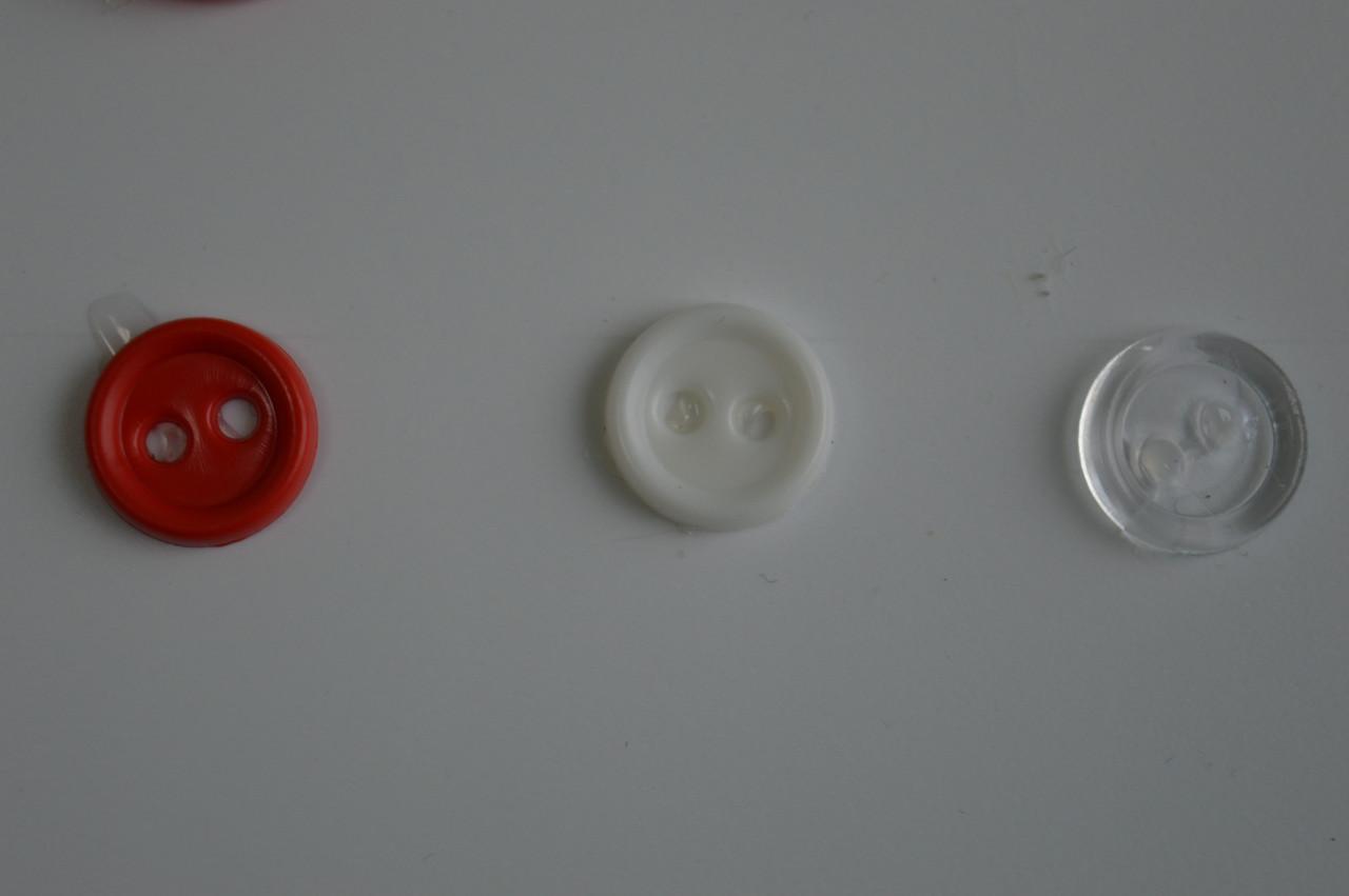 Пуговица рубашечная 11мм цвет прозрачный