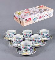 Набор чайный Ягоды на 6 персон фарфор купить в Харькове подарки оптом
