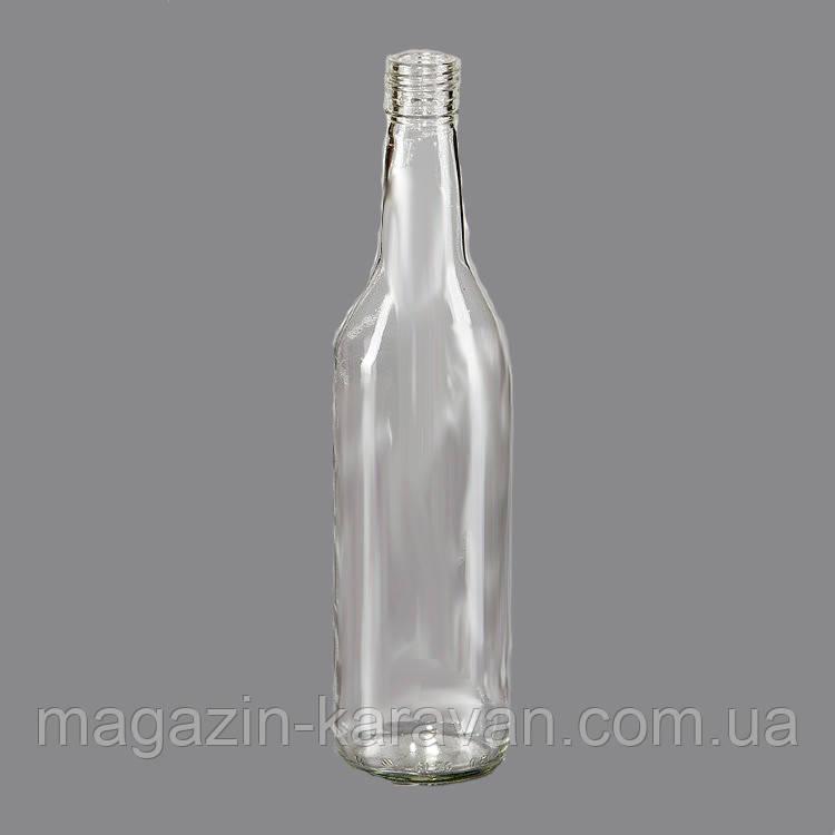 Стеклянная бутылка 0.5 л под алюминиевый колпачок 28*18 мм