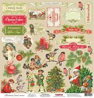 Бумага для скрапбукинга 30,5х30,5см 180г односторонняя «Ночь перед Рождеством» Рождественские подарки