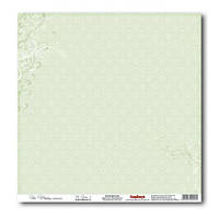 Бумага для скрапбукинга 30х30см 180г двусторонний «Свадебные» Нежно-зеленый 2