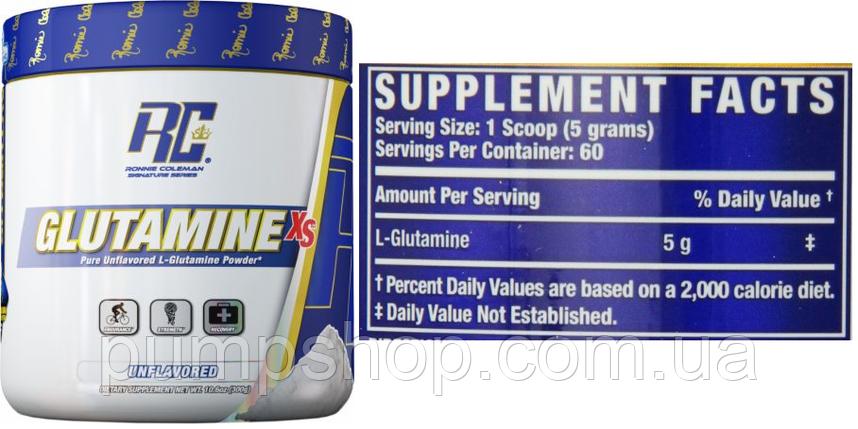 Глютамін Ronnie Coleman Signature Series Glutamine-XS 300 г, фото 2