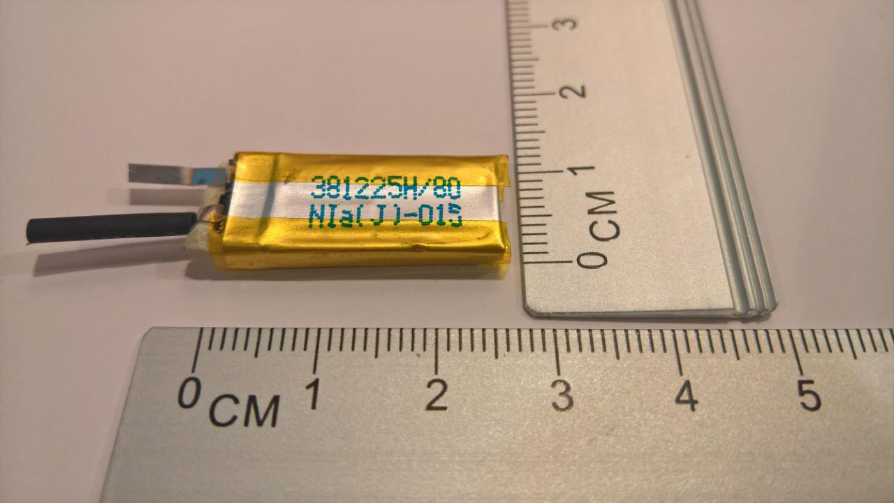 Літій-полімерний акумулятор 381225 DBK 3,7 V 80mAh