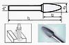 Борфреза сфероконическая 55х6мм (13х3мм), тип F (тип насечки ― 6)