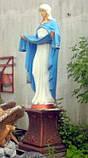 Ритуальная скульптура в Украине. Большая статуя Покрова №6 высота 220 см из бетона, фото 3