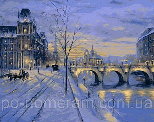 Париж зимой - картина по номерам Роберта Финале