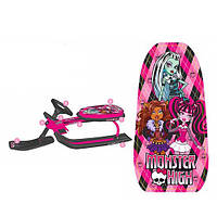 Снегокат для девочек Monster High розовый