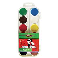 Акварель 12 цвет. ZiBi 6521 в пластиковой упаковке