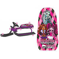 Снегокат-сани  Monster High фиолетовый
