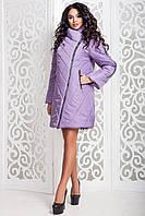 Женская демисезонная сиреневая куртка   В-970 Лаке Тон 22 44-54 размеры