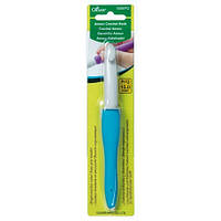 Алюминиевый крючок с мягкой ручкой,Clover,размер 15