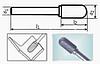 Борфреза сфероцилиндрическая 55х6мм (10х2мм), тип С (тип насечки ― 6)