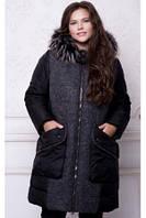 Куртка женская зимняя с мехом №577 (р.54-64)