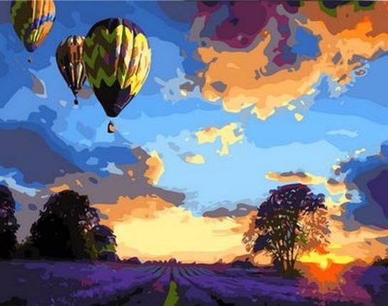 Набор-раскраска по номерам Закат над лавандовым полем, фото 2