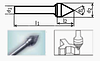 Борфреза коническая 55х6мм (2.6х3мм), тип J (тип насечки ― 3)