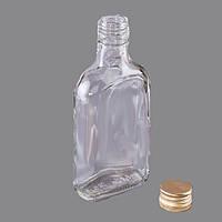 Фляга стеклянная 0,2 литра водочная