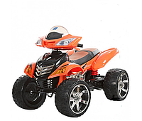 Квадроцикл детский M 3101 (MP3) EBLR-7, кожаное сиденье, оранжевый