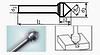 Борфреза конічна 55х6мм (2х3мм), тип K (тип насічки ― 3)