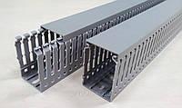 Кабель канал перфорированный пластиковый с крышкой лоток 40 х 60 от 2х метров