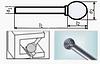 Борфреза сферическая 55х6мм (2.7х3мм), тип D (тип насечки ― 3)