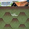 Акваизол Мозаика зеленый микс Битумная черепица (3 м2/уп)