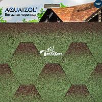 ОПТ - Акваизол Мозаика зеленый микс Битумная черепица (3 м2/уп) (только Харьков)