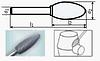 Борфреза пламевидная 80х6мм (32х12мм), тип H (тип насечки ― 6)