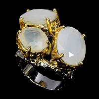Кольцо серебро 925 пробы опалы