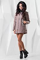Женская демисезонная розовая  куртка   В-969 Лаке Тон 10 44-54 размеры