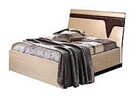 Кровать Арья 160 без каркаса 1040х1650х2130мм венге темный + дуб молочный  Мастер Форм