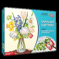 Акриловий живопис за номерами,  «Квіти» полотно 35*45см ROSA START