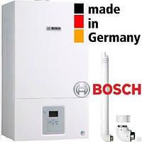 Настенный газовый котел BOSCH Gaz 6000 18 C RN двухконтурный (turbo) + комплект дымохода