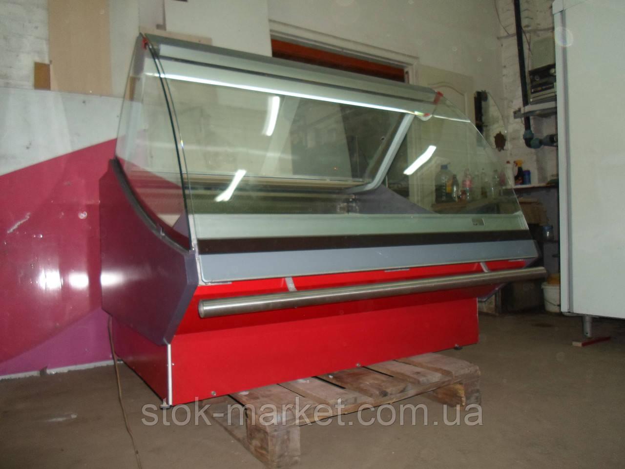Холодильная витрина б/у Carrier 1,3 м., витрина холодильная б/у, гастрономическая витрина б у, прилавок холоди