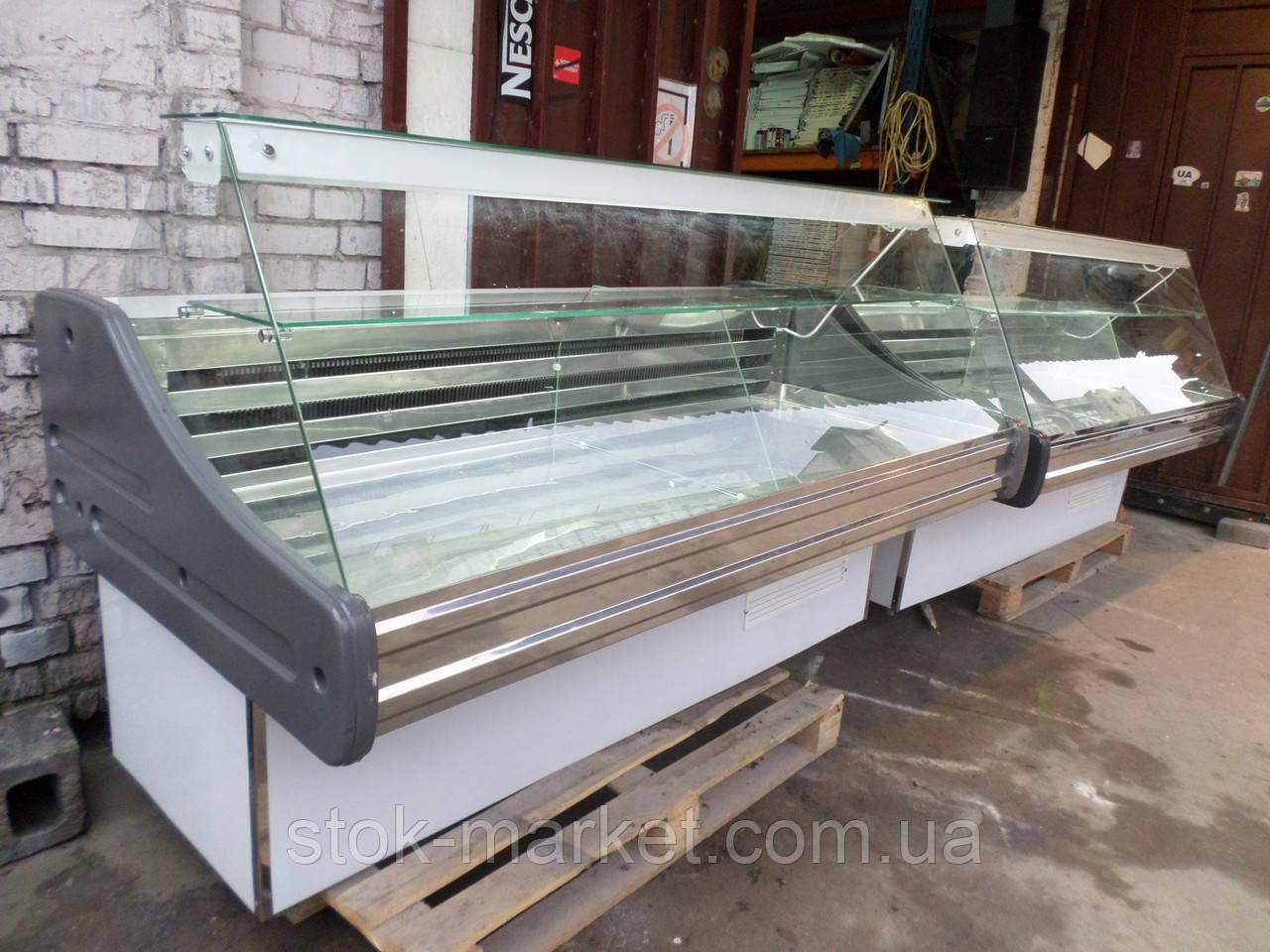 Холодильная витрина Технохолод 1,9 м. б/у, витрина гастрономическая холодильная б у, прилавок холодильный б у.