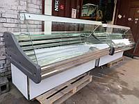 Холодильная витрина Технохолод 1,9 м. б/у, витрина гастрономическая холодильная б у, прилавок холодильный б у., фото 1
