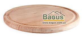 Деревянная подставка 20см (бук) под порционные сковороды