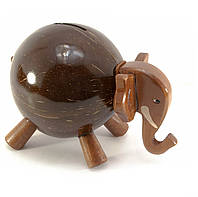 Копилка для монет Слон кокос
