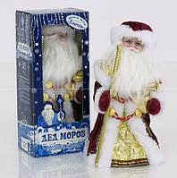 Игрушка Дед Мороз под елку 30 см (бордовый). Музыкальный, в коробке. 0991 (18)