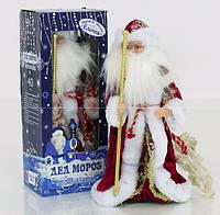 Игрушка Дед Мороз под елку 40 см (красный). Музыкальный, в коробке. 0994 (18)