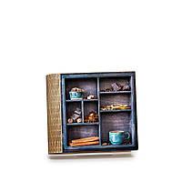 """Шкатулка-книга на магните с 4 отделениями """"Голубая чашка"""""""